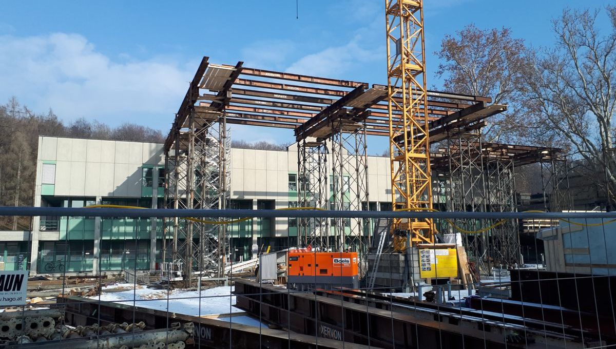 Baustelle Learning Center, Februar 2019