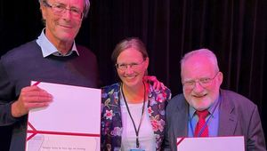 Von links: Professor Radko Mesiar (STU Bratislava), Professorin Susanne Saminger-Platz, Professor Erich Peter Klement