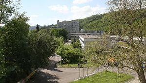 Ausblick auf Campus vom Uni-Center