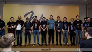 Unser Team beim Finale des VolgaCTF-Wettbewerbs.
