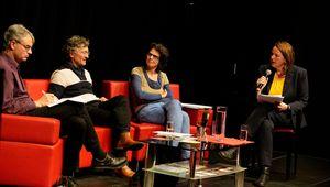 Von links nach rechts: Ulrich Brand, Sepp Wall-Strasser, Karin Fischer, Sigrid Ecker.