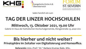Einladung Tag der Linzer Hochschulen