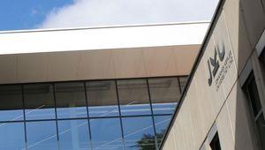Learning Center der JKU, von unten gesehen