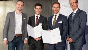 von links: Robert Wille, Gabriel Ebner, Andreas Grimmer, Elmar Pichl (Ministerium)