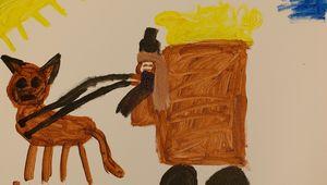 Bydlo, der Ochsenkarren - Kinderzeichnung