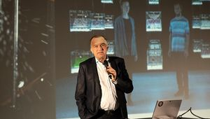 Rector Lukas at the 2021 Ars Electronica press conference.