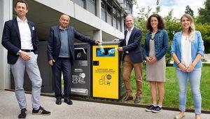 von links: Harald Hauke (ARA Vorstand), Meinhard Lukas (Rektor JKU), Herbert Bauer (General Manager Coca-Cola HBC Österreich), Maria Buchmayr (Nachhhaltigkeitsbeauftragte JKU), Monika Dobreva (ARA Abfallmanagement)