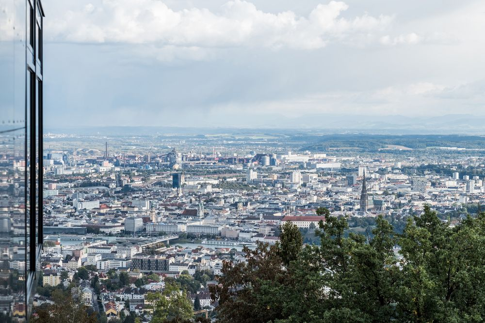 View on Linz from the Schlossberg