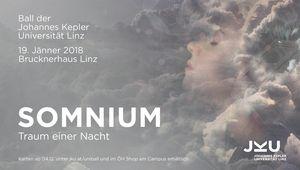 """Plakat des JKU Balls """"Somnium - Traum einer Nacht"""" im Jahr 2018"""