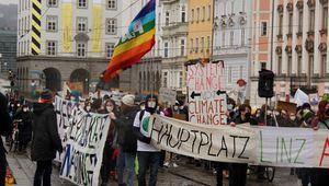 Klimastreik in Linz, Landstraße