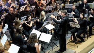 Das Kepler Blasorchester spielt im Festsaal der JKU Linz