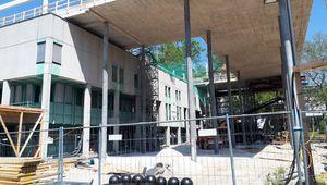 Baustelle JKU Learning Center im Juni 2019