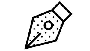 Metallspitze Füllfeder, Icon