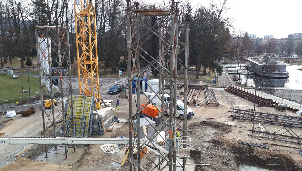 Foto Baustelle Learning Center im Jänner