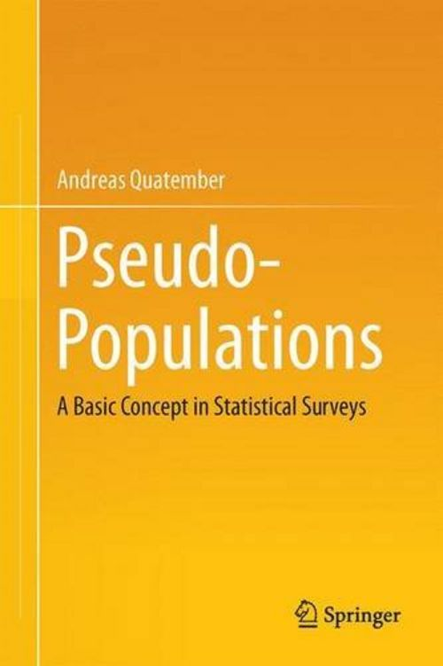 This picture shows the cover of the book Pseudo-Populations
