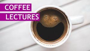 Kaffeetasse als Sinnbild für die Coffee-Lectures der Bibliothek der JKU