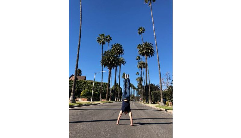 """Handstand in Beverly Hills"" (Los Angeles, USA)"