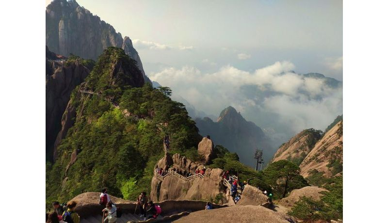 """Not alone at the top"" (Huangshan, China)"